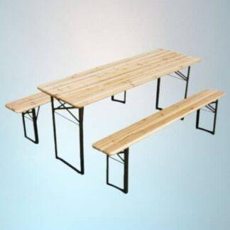 Ensemble Tables et bancs en bois